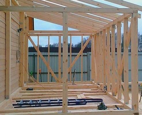 Строительство беседки пристроенной к дому
