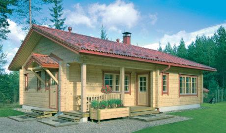 Финский дом из бруса с верандой