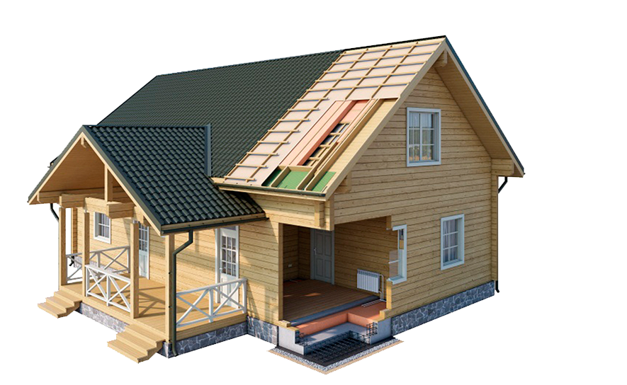 Этапы строительства дома из профилированного бруса